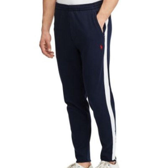 Polo Sport Ralph Lauren Performance Kid Navy Blue Track Pants Big White Pony NWT